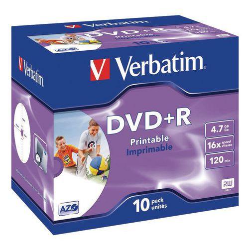 Verbatim printable DVD+R 16x - pack of 10