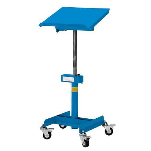 XL mobile service trolley – tilting surface