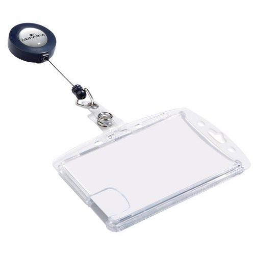 Badge holder for magnetic card - With reel