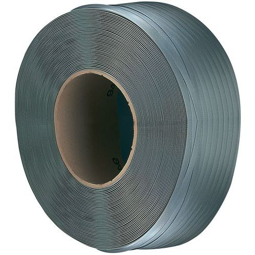 Reel of polypropylene strapping