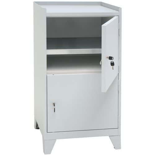 Metal Tool Storage Cupboard with 2 Doors & Feet - HxW 1020x533mm