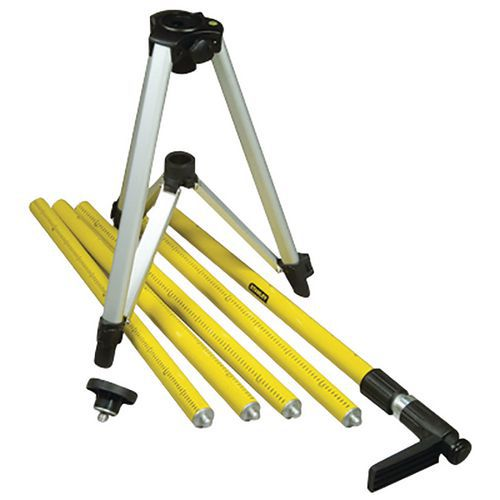Tripole telescopic rod