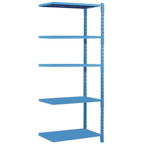Tubular Shelving Extension Bay (2000h x 1250w) With 5 Solid Shelves