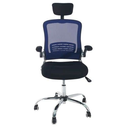 Marvelous Aurora High Back Mesh Office Chair With Adjustable Armrests Home Interior And Landscaping Transignezvosmurscom