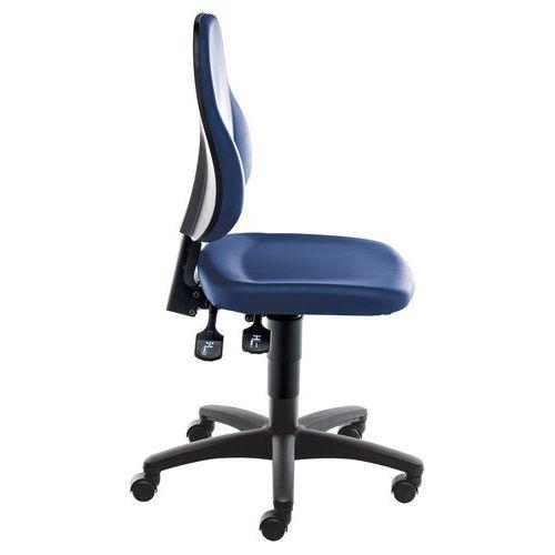 Multi-purpose, vinyl ergonomic workshop chair