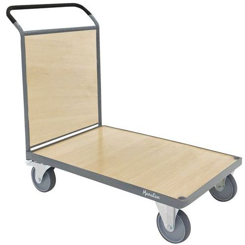 Wooden Platform Trolley - 1 Sided - 500kg - Manutan