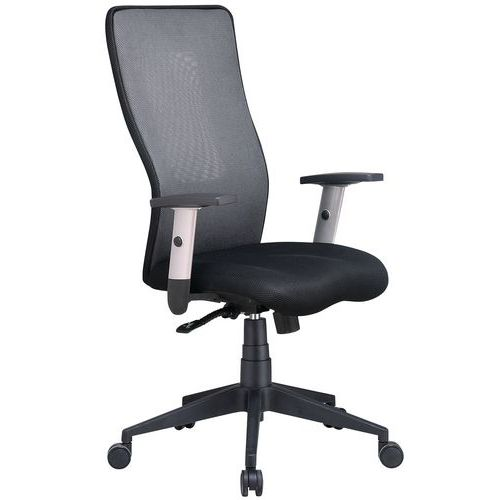 Penelope high-backed ergonomic office chair - Fabric - Manutan