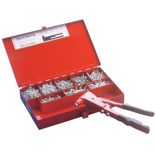 Case of rivets and professional pliers - Degometal