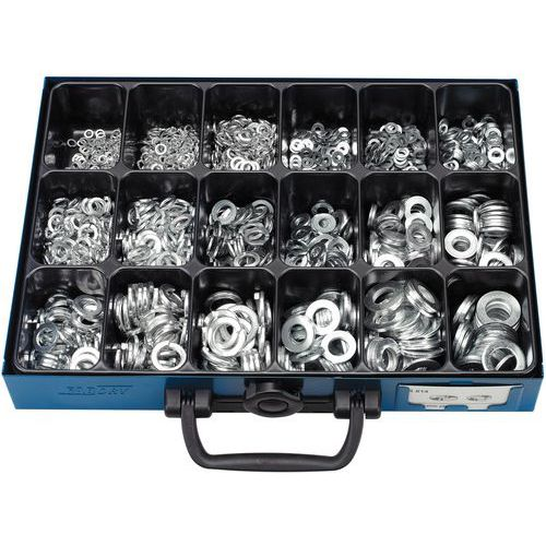 Case of flat washers and elastic washers without lip - 1700-piece