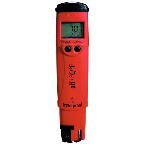 Waterproof pH tester with compensation and temperature display pHep 4