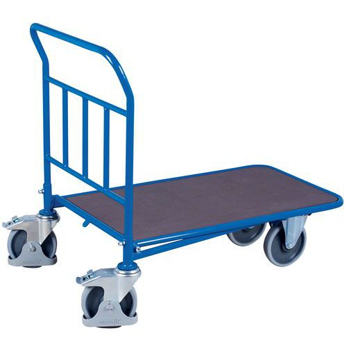 Nesting trolley with ergonomic fixed back - Capacity 400 and 500kg