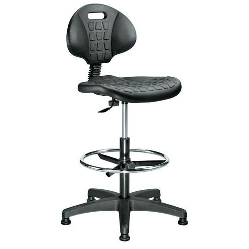 Polyurethane Ergonomic Draughtsman Chair - Manutan