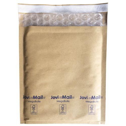 Jovimail MegaBulle Kraft padded envelope with large bubbles 109gr/m²