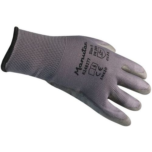 Grey handling gloves