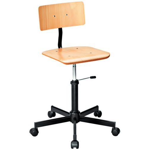Wooden workshop chair - Low