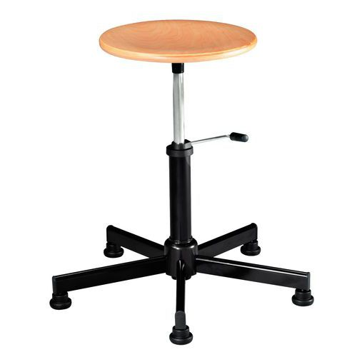 Primo low workshop stool - Feet and castors - Linea