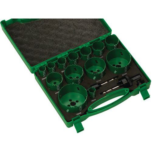 Set of hole saws - Multi-purpose (electrical, plumbing, assembly)