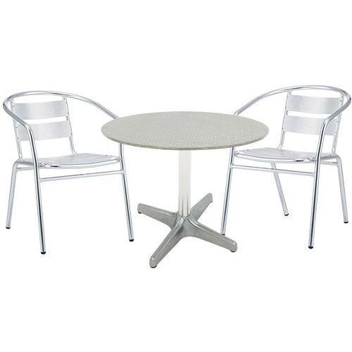 Aluminium Table and Chairs Set - Manutan