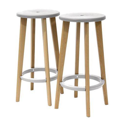 Woody tall stool - Set of 2