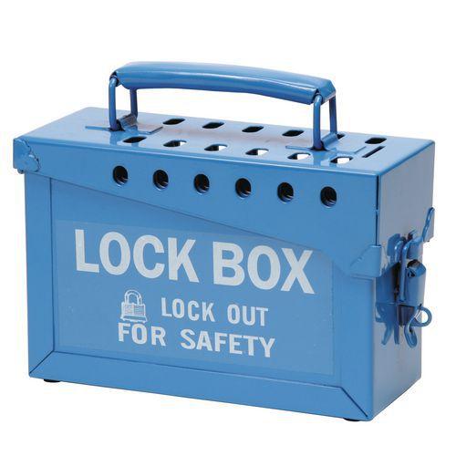 Group lockout box for padlock - Large version