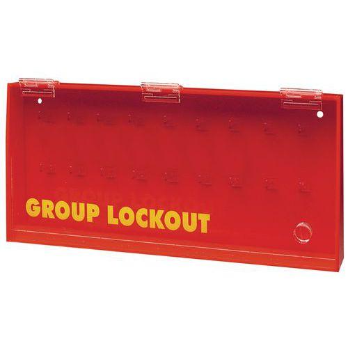 Storage box for padlocks and keys