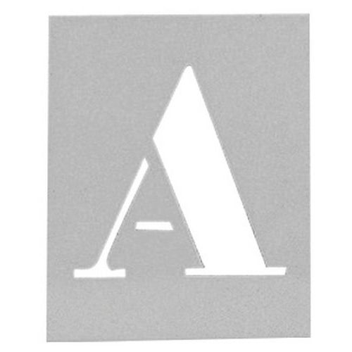 Aluminium stencil - Set of 26 alphabetical letters