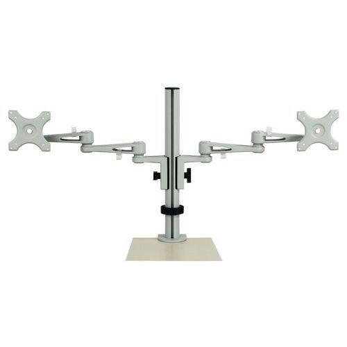 Adjustable ergonomic dual-monitor stand - Manutan
