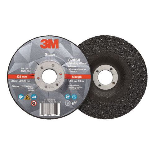 T27 Silver depressed centre grinding wheel