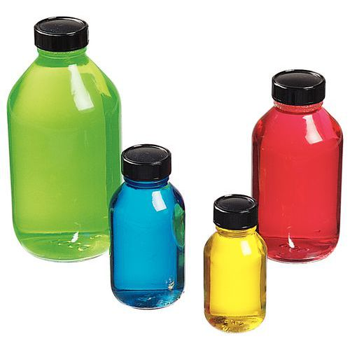 Glass bottle with tamper-proof cap - 125 to 1000 ml