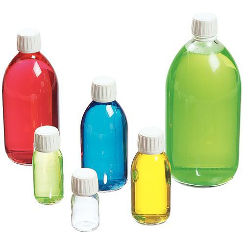 Glass bottle with tamper-proof cap - 30 to 250ml