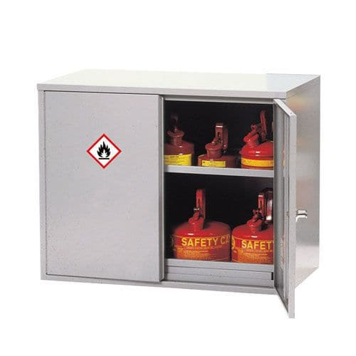 Double Door Flammable Liquid Cupboard with 1 Shelf