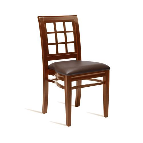 Ritz Bistro Side Chair Leather Effect