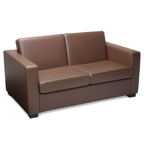 Two Seater Leather Reception Sofa