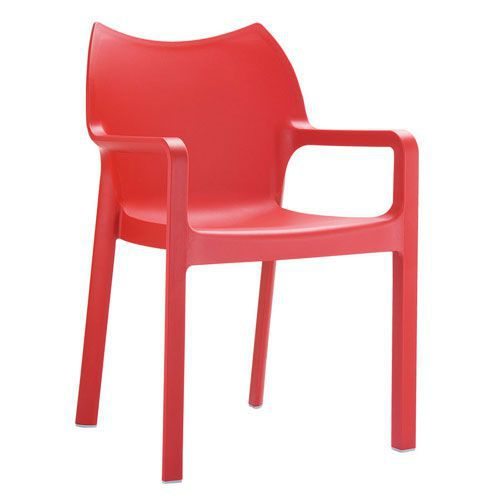 Peak Coloured Plastic Arm Chairs
