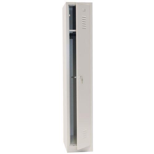 Single Storage Locker with Plinth - Grey Body & Cylinder Lock - 1800x315x500mm