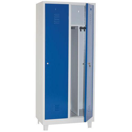 Clean & Dirty Lockers 2 Nest - Grey Body & Hasp Lock - 1900x800x500mm