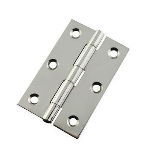 Pressed Hinge - 76 x 51 x 1.5mm - Polished Stainless Steel