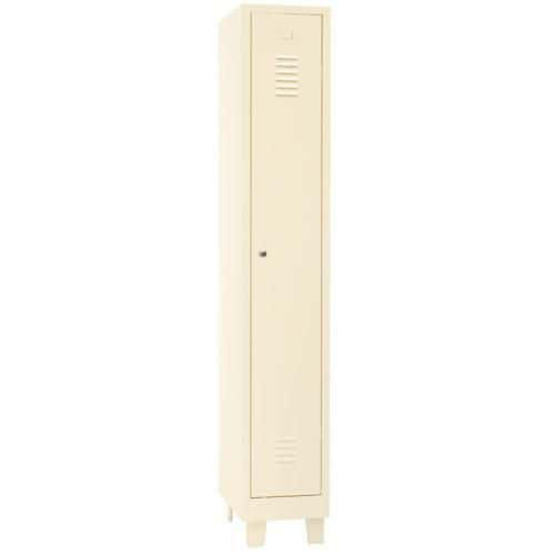 Single Locker Beige with Feet & Cylinder Lock - 1900x315x500mm