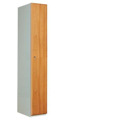 Wood Effect Laminate Lockers Single Door - 1800x300x450mm