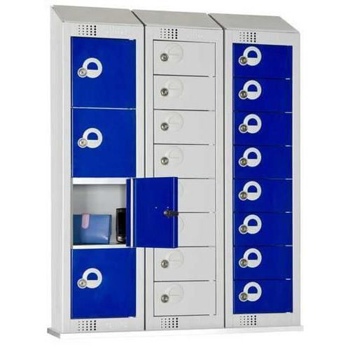 Personal Effects Lockers 4 Doors with Sloping Top - 990x250x160mm