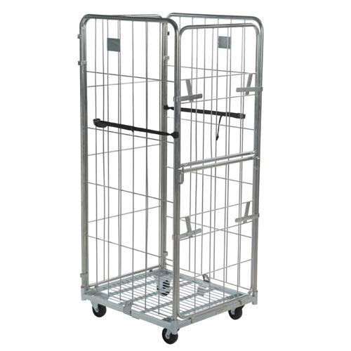 Roll Pallet With 4 Removable Sides And Drop Gate