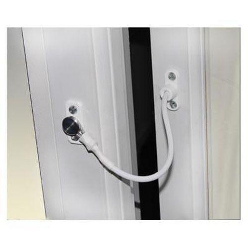 Jackloc Permanent Fixed Window Restrictor - White