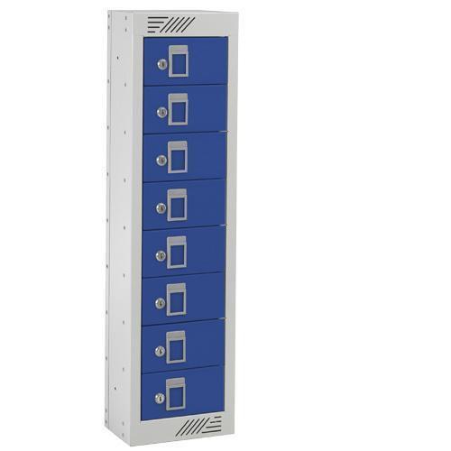 Personal Effects Lockers - 8 Doors - Flat Top - 915x250x155mm