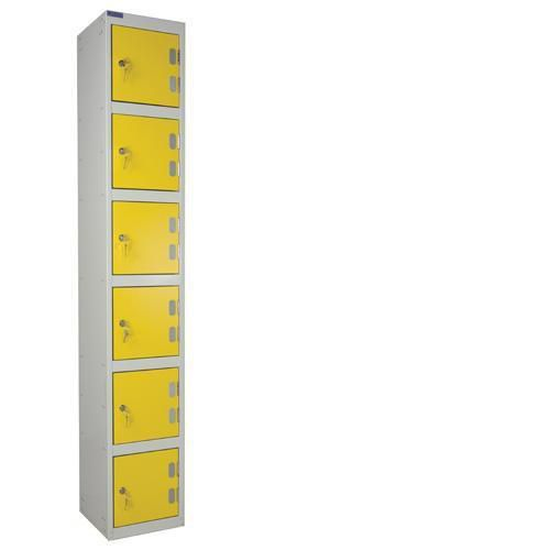 Laminate Lockers 6 Door - 1800x300x450mm