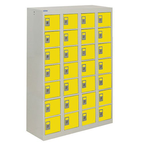 Personal Effects Lockers with Germ Guard - 28 Doors - 1285x900x380mm