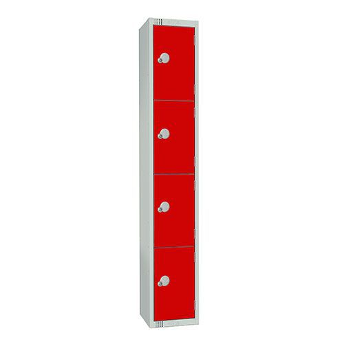 4 Door Antibac Locker 1800x300x450mm Cylinder Lock