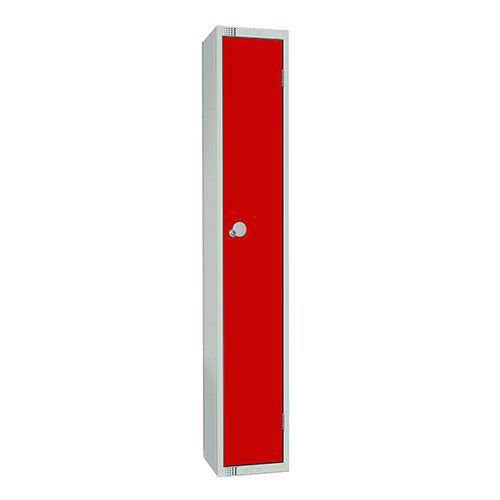 Elite Antibacterial Lockers - Single Door - Flat Top & Hasp Lock - 1800x300x300mm