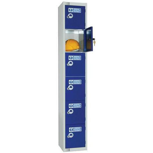 PPE Lockers 6 Door - 1800x300x300mm