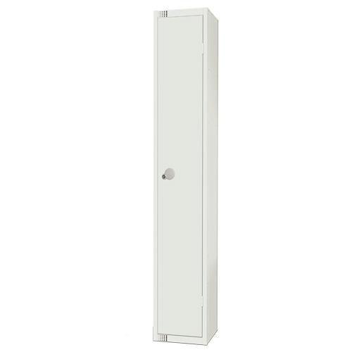 White Metal 1-8 Door Lockers With Elite Anti-Bacterial Coating