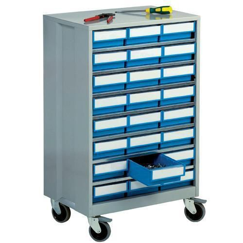 High Density Mobile Storage Cabinets with 24 Shelf Bins